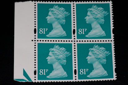 Sunpak GX8R photo of stamps